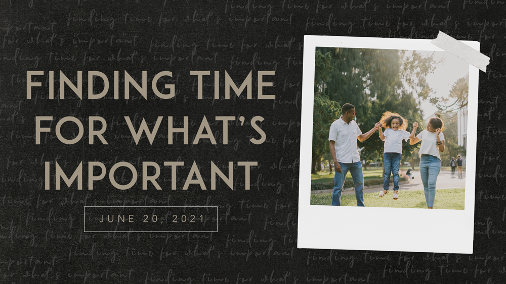 Finding Time for What's Important Image